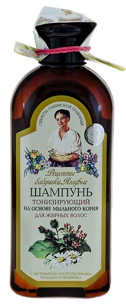 Babička Agáfia Šampón tonizujúci pre mastné vlasy na základe koreňa mydlice 350 ml