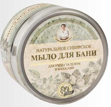 TCA Čierne sibírske husté prírodné bylinné mydlo na telo aj vlasy na zaklade výťažkov zo 37 sibírskych bylin 500ml