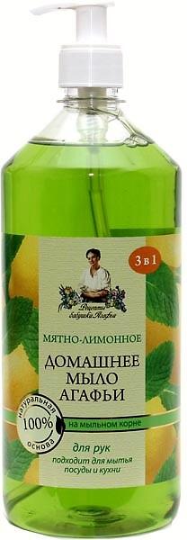 RBA Tekuté mydlo Mäta+Citron pre domácnosť 3 v 1 1000ml