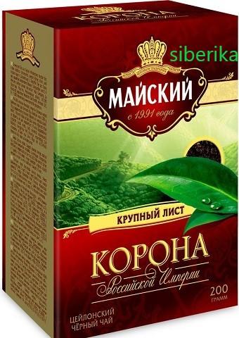"""Veľkolistý čierny cejlónsky čaj """"Koruna Ruskej ríše"""" 200g"""