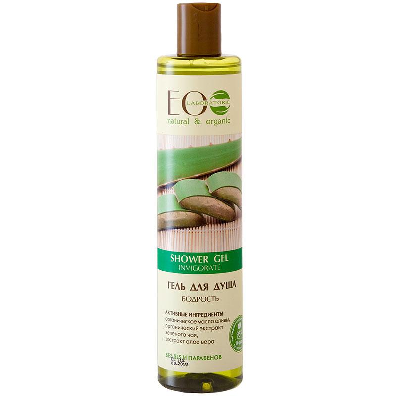 EO LAB Povzbudzujúci Sprchový gél - Aloe, Zelený čaj, Zázvor a Olivový olej 350ml