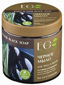 EO LAB Čierne mydlo telové a na vlasy greek black soap 450 ml