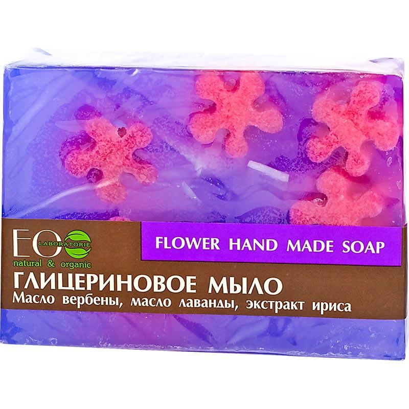 EO LAB Kvetové - Glycerínové mydlo - Ručná výroba(Levanduľa, Verbena a Kosatec nemecký) 130g