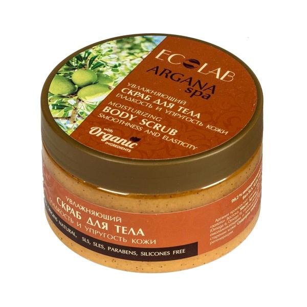 EO LAB ARGANA SPA Prírodný telový peeling - Jemnosť a pružnosť pokožky 250g (Arganový olej, olej NEROLI a extrakt zo škrupín orecha)