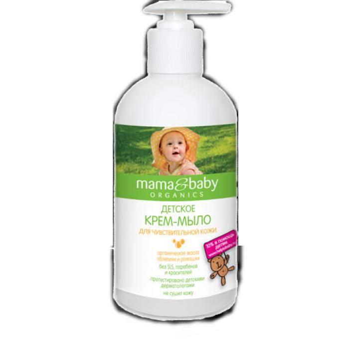 Mama&Baby Organics Detský krém – mydlo pre citlivú pokožku 0+ 500ml