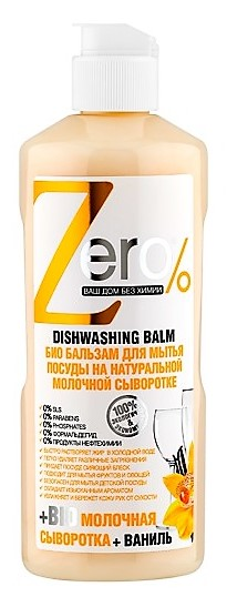 zEro Eco balzam na umývanie riadu Mliečna srvátka + vanilka 500ml