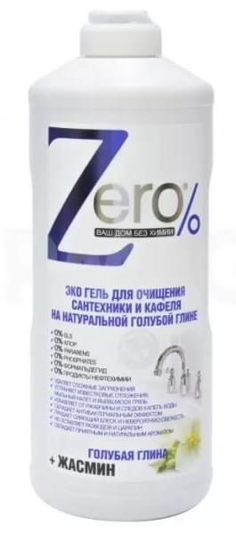 zEro - Eko gél na hygienické čistenie - prírodná modrá hlina + jazmín, 500ml