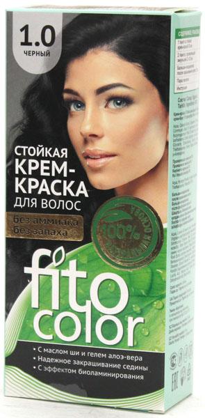 1.0 FitoColor Dlho trvajúca Crem – Farba na vlasy Čierna 50/25x2/15-115ml