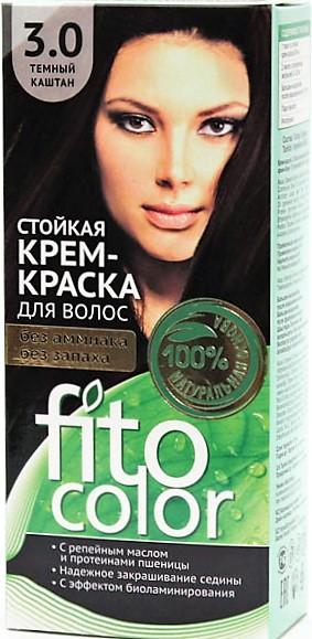 3.0 FitoColor Dlho trvajúca Crem – Farba na vlasy Tmavý kaštan 50/25x2/15-115ml