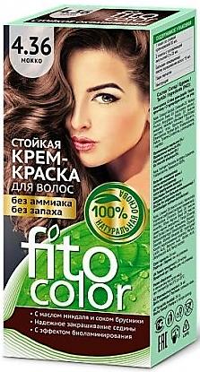 4.36 FitoColor Dlho trvajúca Crem – Farba na vlasy Mokka 50/25x2/15-115ml
