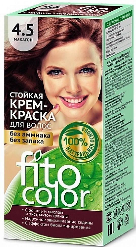 4.5 FitoColor Dlho trvajúca Crem – Farba na vlasy Mahagónová 50/25x2/15-115ml