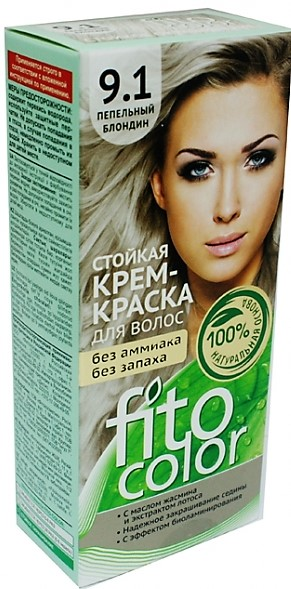 9.1 FitoColor Dlho trvajúca Crem – Farba na vlasy (popolavo) veľmi svet. blond 50/25x2/15-115ml