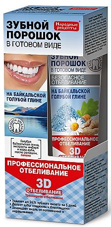 Fitokosmetik Zubný prášok vo forme pasty Profesionálne 3D bielenie 45 ml