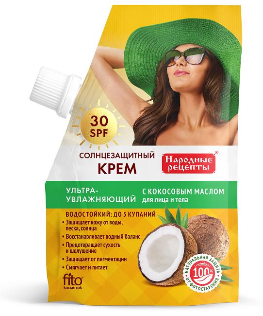Fitokosmetik opaľovací krém ultra hydratačný 30SPF s kokosovým olejom, materskou kašičkou a kolagénom, 50ml