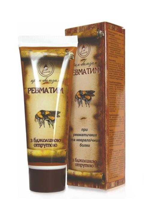 Eliksir - Revmatim Krém balzam na telo so včelím jedom 75 ml